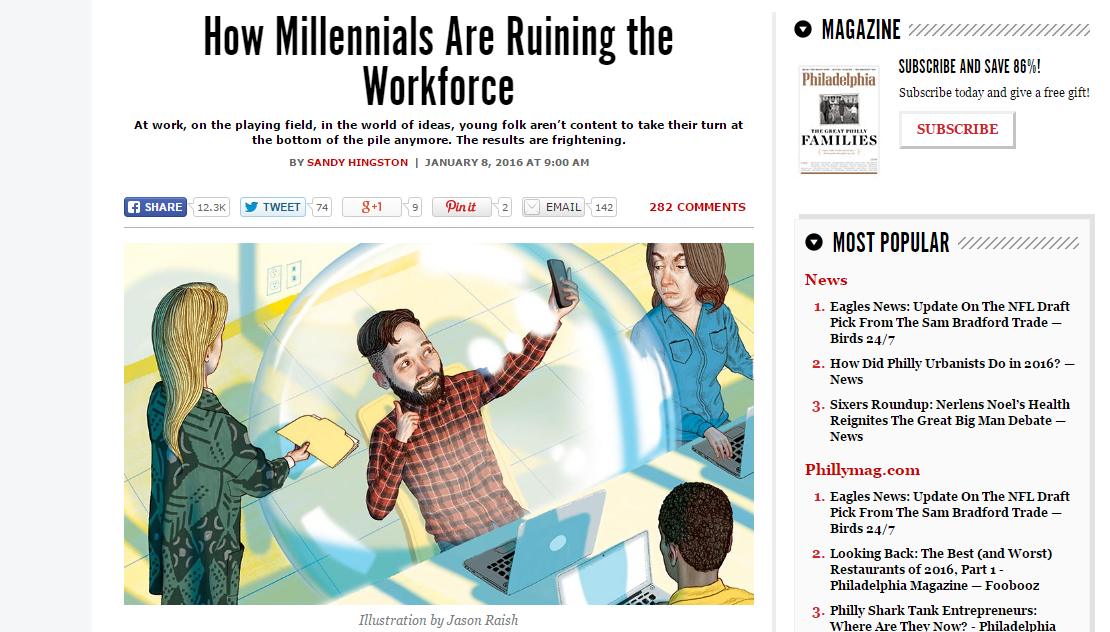 millennials ruining workforce